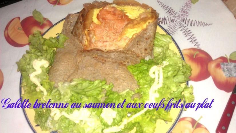 Galette bretonne aux oeufs, au saumon et au fromage