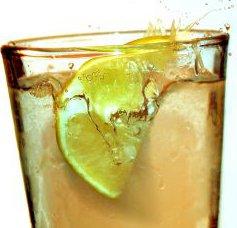 Jus de citron après  sport
