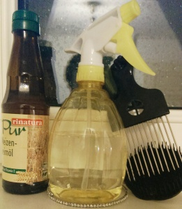 brumisateur ou vaporisateur cheveux crépus